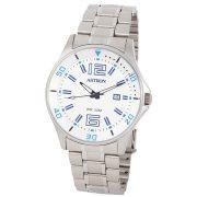 ASTRON 5558-7 sportos férfi karóra, ezüst színű nemesacél tok, ezüst színű nemesacél csat, fehér számlap, keményített ásványüveg, quartz szerkezet, 50 m (5 ATM) vízállóság