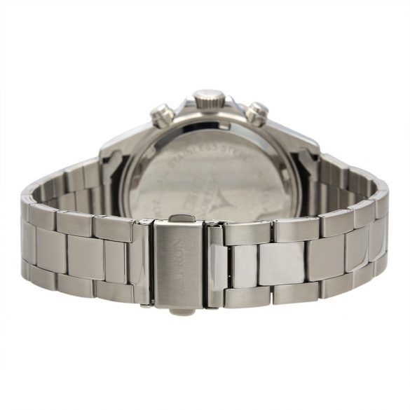 ASTRON 5560-1 férfi karóra, ezüst színű nemesacél tok, ezüst színű nemesacél csat, fekete számlap, keményített ásványüveg, quartz szerkezet, 50 m (5 ATM) vízállóság