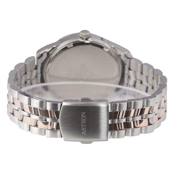ASTRON 5563-0 férfi karóra, ezüst színű nemesacél tok, ezüst színű nemesacél csat, fehér számlap, keményített ásványüveg, quartz szerkezet, 50 m (5 ATM) vízállóság