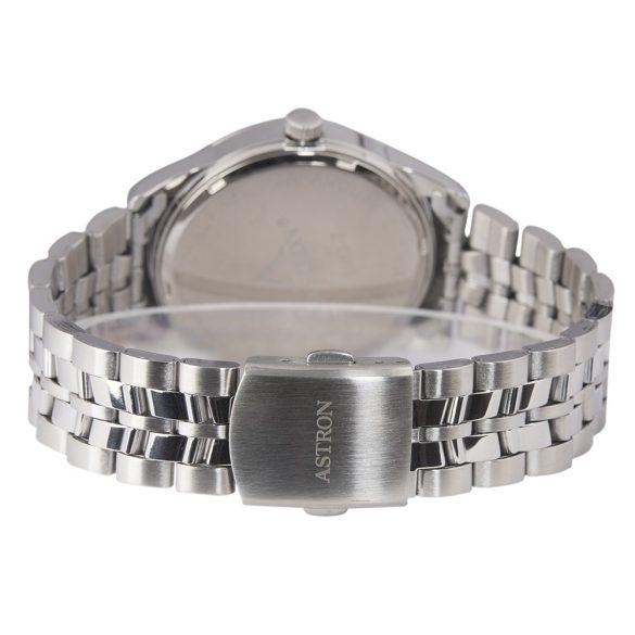ASTRON 5563-7 férfi karóra, ezüst színű nemesacél tok, ezüst színű nemesacél csat, ezüst színű számlap, keményített ásványüveg, quartz szerkezet, 50 m (5 ATM) vízállóság