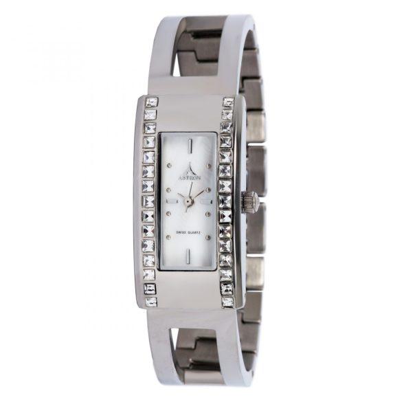 ASTRON 5576-7 női karóra, ezüst színű nemesacél tok, ezüst színű nemesacél csat, gyöngyház színű számlap, keményített ásványüveg, quartz szerkezet, cseppmentes vízállóság