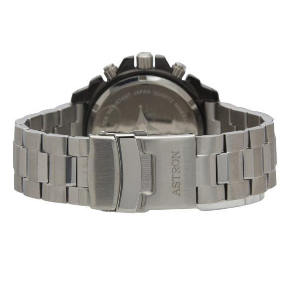 ASTRON 5652-1 férfi karóra, ezüst színű nemesacél tok, ezüst színű nemesacél csat, fekete számlap, keményített ásványüveg, quartz szerkezet, 50 m (5 ATM) vízállóság