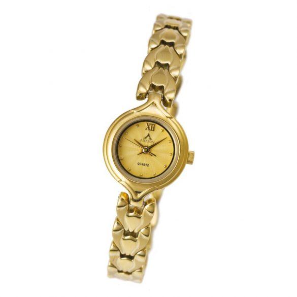 ASTRON 5701-9 női karóra, arany színű nemesacél tok, arany színű fémcsat, pezsgőszínű számlap, keményített ásványüveg, quartz szerkezet, cseppmentes vízállóság