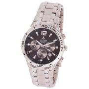 ASTRON 5721-1 analóg férfi karóra, ezüst színű nemesacél tok, ezüst színű nemesacél szíj/csat, fekete számlap, keményített ásványüveg, chronograph|quartz szerkezet, 100 m (10 ATM) vízállóság