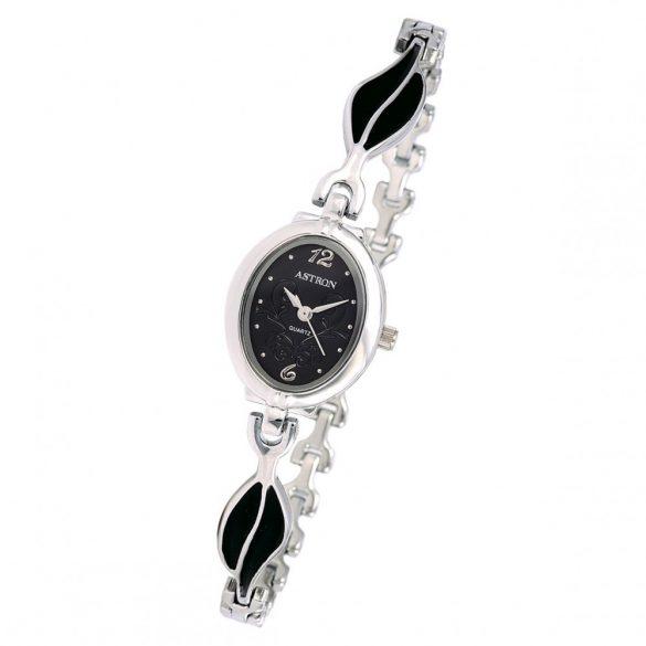 ASTRON 5749-1 női karóra, ezüst színű fém tok, ezüst színű fémcsat, fekete számlap, keményített ásványüveg, quartz szerkezet, cseppmentes vízállóság