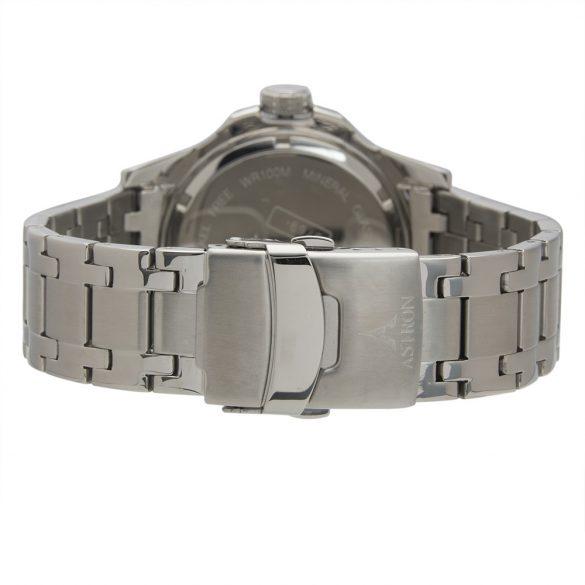 ASTRON 5769-2 férfi karóra, ezüst színű nemesacél tok, ezüst színű nemesacél csat, kék számlap, keményített ásványüveg, quartz szerkezet, 100 m (10 ATM) vízállóság