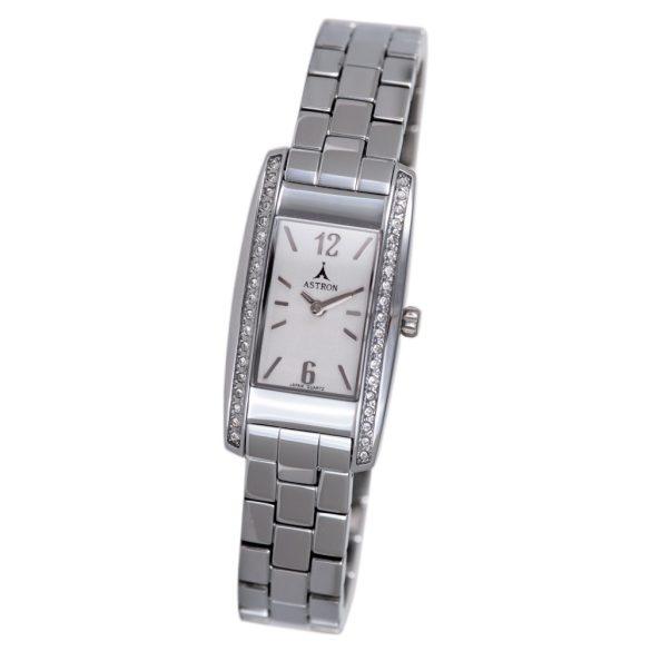ASTRON 5770-8 női karóra, ezüst színű fém tok, ezüst színű fémcsat, fehér számlap, keményített ásványüveg, quartz szerkezet, cseppmentes vízállóság