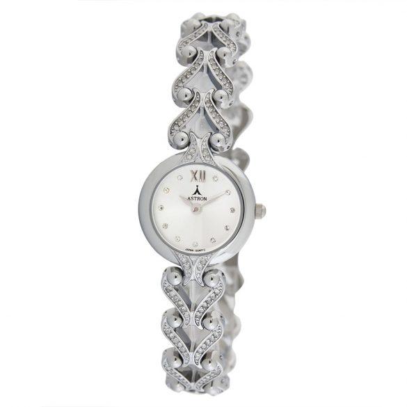 ASTRON 5771-8 női karóra, ezüst színű fém tok, ezüst színű fémcsat, ezüst számlap, keményített ásványüveg, quartz szerkezet, cseppmentes vízállóság