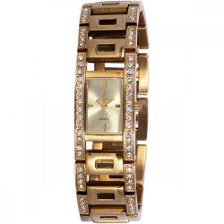 ASTRON 5781-7 női karóra, arany színű nemesacél tok, arany színű nemesacél csat, ezüst színű számlap, keményített ásványüveg, quartz szerkezet, cseppmentes vízállóság