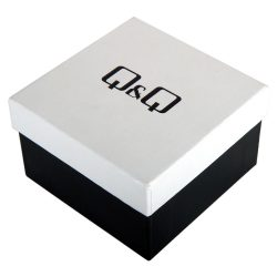 Q&Q karóra doboz, fekete/fehér, párnás