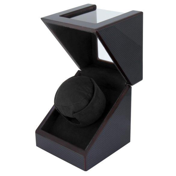 Óraforgató doboz, 1db órához, kívűl fekete magasfényű felület, belűl fekete textil