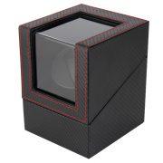 Óraforgató doboz, 1db órához, kívűl fekete műbőrborítású felület, belűl fekete textil