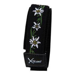 X-treme szíj, 302, fekete-fehér színű, virág mintás
