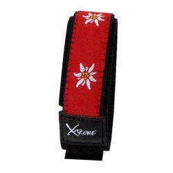 X-treme szíj, 230,  piros-fehér virág mintás