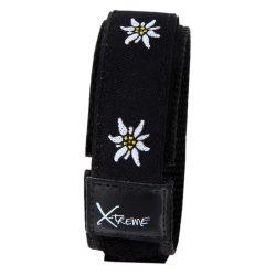 X-treme szíj, 202, fekete-fehér virág mintás