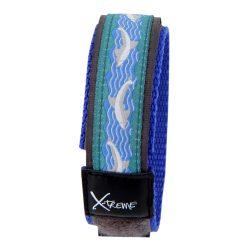 X-treme szíj, 196,  kék-fehér delfin mintás