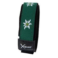 X-treme szíj, 255, zöld-fehér virág mintás