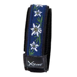 X-treme szíj, 348, kék-fehér virág mintás