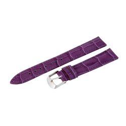 Minőségi bőrszíj, lila színű, 75+125 / 18 mm