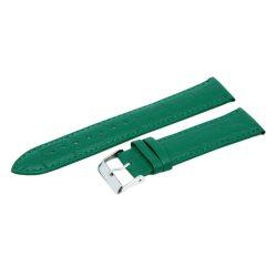 Minőségi bőrszíj, zöld színű, 75+125 / 22 mm