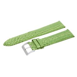 Karóra szíj, zöld színű, 85+125 / 24 mm