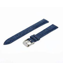 Karóra farmerszíj, kék ezüst, 65+105 mm/14 mm