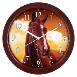 Falióra, figurás (lovas) számlap, barna színű