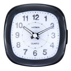 Astron ébresztőóra, quartz, fekete színű tok, kék ^LED^-es számlap