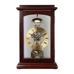 Astron ingás mechanikus fa asztali óra, dió színű