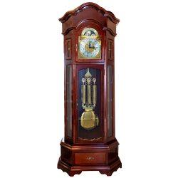 ASTRON ingás állóóra, mechanikus Hermle szerkezet, 1/4 ütős, Westminster dallamos, tölgy színben