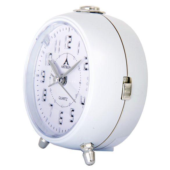 Astron ébresztőóra, quartz, fehér, LED-es számlap