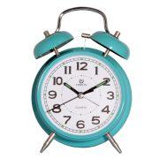 Merion fém ébresztőóra, quartz, kék szín, 4^