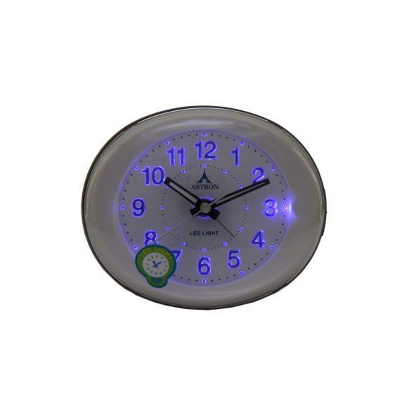 Astron ébresztőóra, quartz, arany színű, LED-es számlap