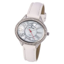 Tiko Time női bőrszíjas karóra, quartz, ezüst színű tok