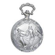 Tiko Time férfi zsebóra, quartz, ezüst színű