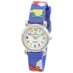 Tiko Time karóra gyerekeknek, quartz, 3D figurás kék alapon helikopteres szíj