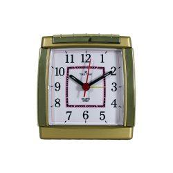 Tiko Time ébresztőóra, sweep, analóg, arany tok, fehér számlap, világítás, visszaébresztés