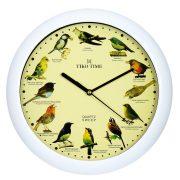 Tiko Time falióra, quartz, fehér (madárhangos)