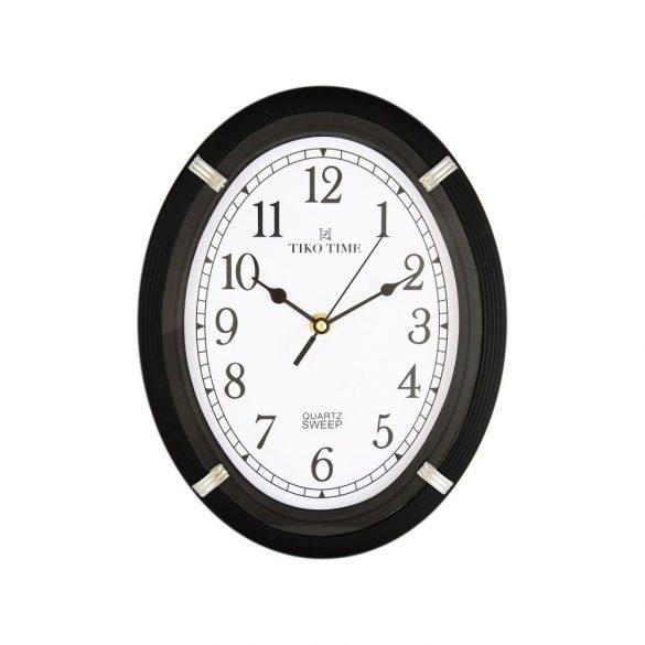Tiko Time falióra, quartz, fekete, sweep