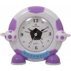 Tiko Time figurás ébresztőóra, quartz (lila focis)
