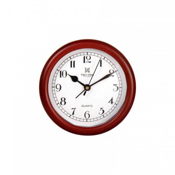 Tiko Time quartz fa asztali óra (dió)