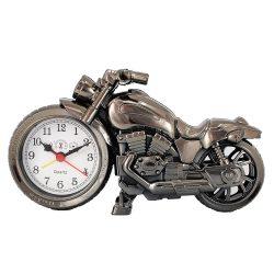 Ébresztőóra, motor forma, szürke színű