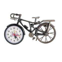 Ébresztő óra, quartz, bicikli forma, szürke színű