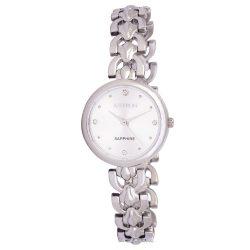 ASTRON 8028-8 női karóra, ékszeróra, ezüst színű nemesacél tok, ezüst színű nemesacél csat, ezüst színű számlap, keményített ásványüveg, quartz szerkezet, cseppmentes vízállóság