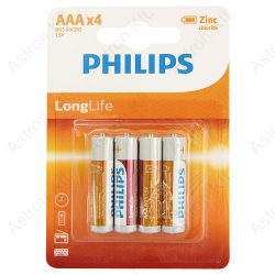 Philips Longlife micro elem 1, 5V bl4/db